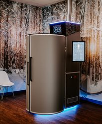 Cryosauna in Oklahoma with nature background