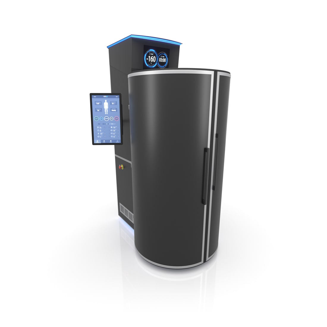 CRYONiQ cryotherapy chamber left orientation
