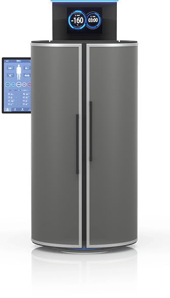 CRYO XC™ cryotherapy chamber in black