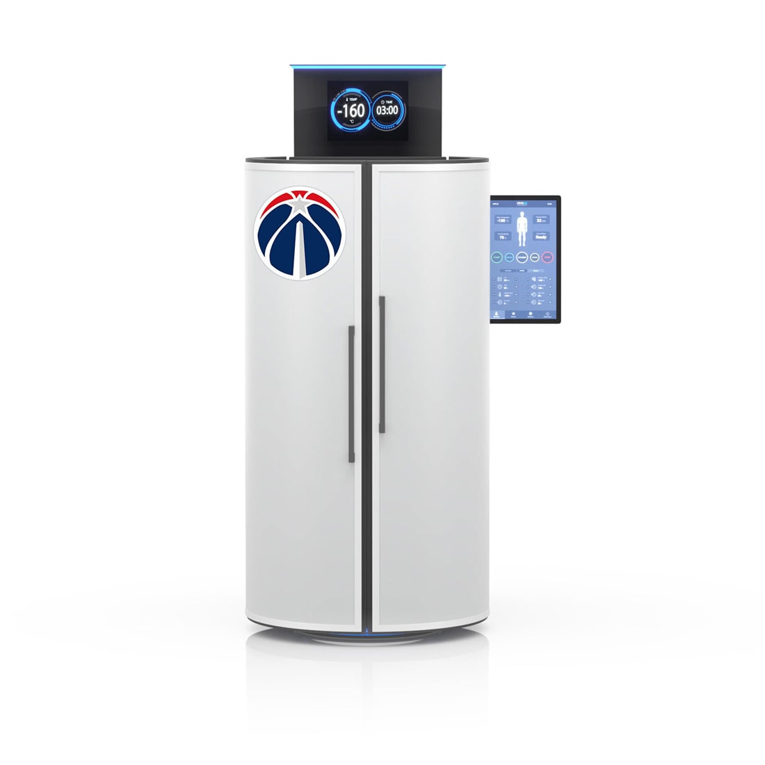 CRYO XC™ cryotherapy unit exterior customized in Washington Wizards logo