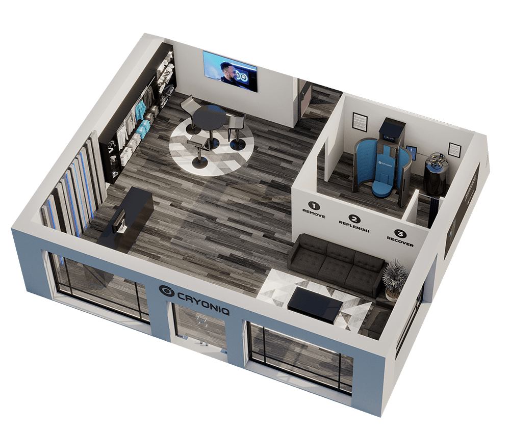 CRYONiQ cryotherapy center from top