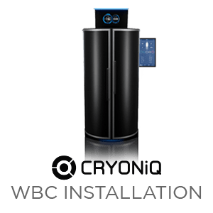 Cryotherapy equipment install by CRYONiQ technician